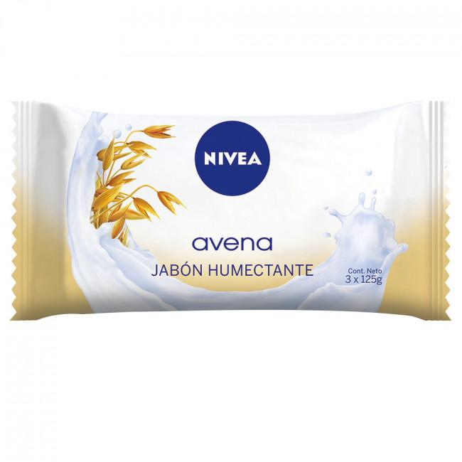NIVEA JAB AVENA      3 X125GR