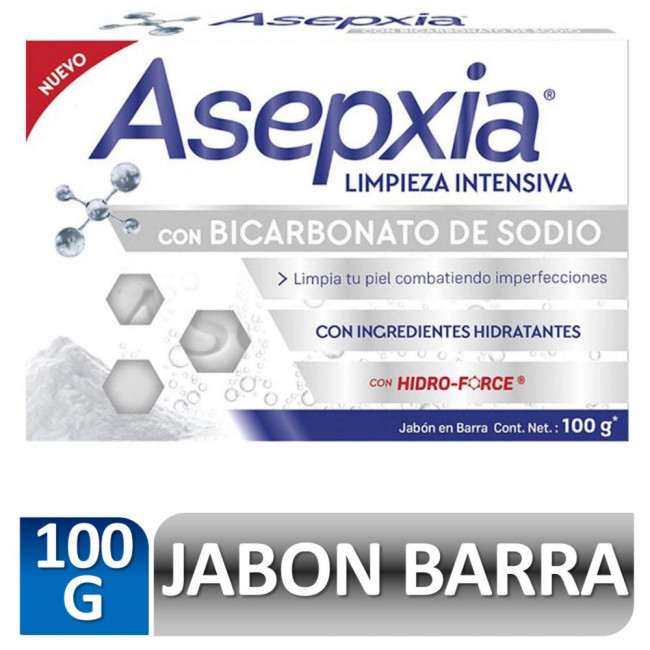 Asepxia Jabón Bicarbonato 100 gr