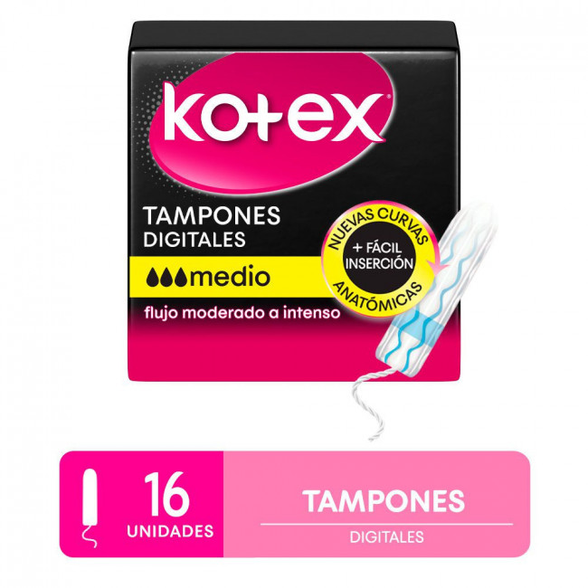 KOTEX TAMPONES MEDIO X16