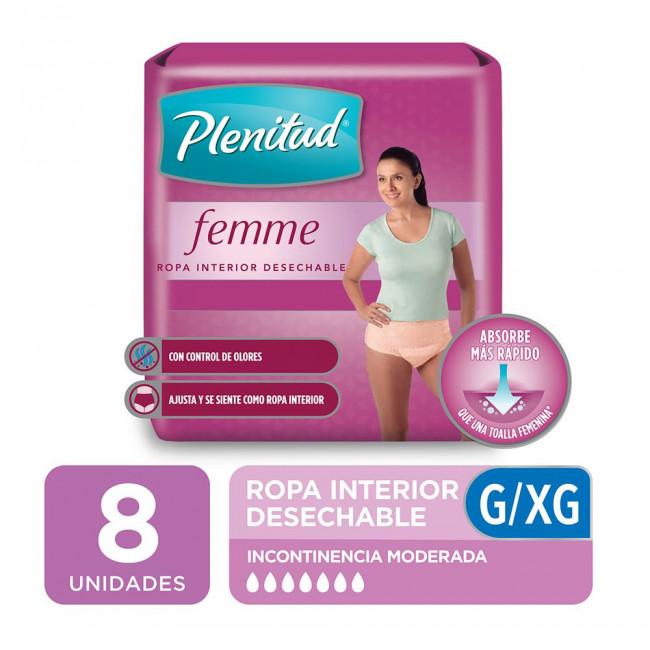 PLENITUD ROPA FEMME G/XG  X 8