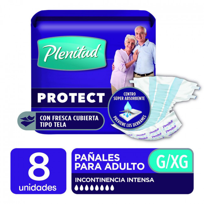 PLENITUD PAÑ AD PROT XG  X  8