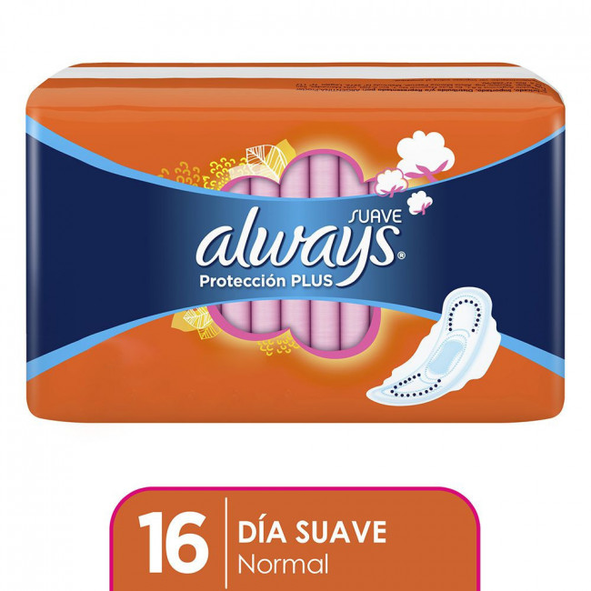 ALWAYS PLUS SUAVE C/ALAS  X16