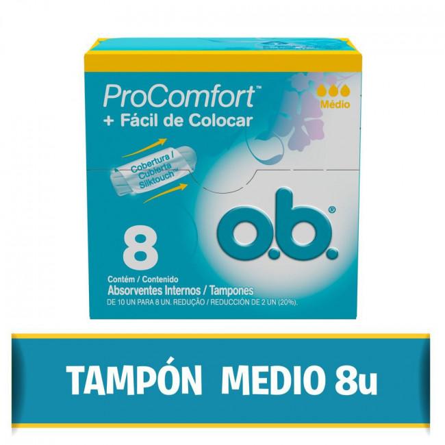 OB TAMP P/COMFORT MEDIO X  8