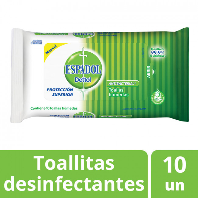ESPADOL DET TOA ANTIBAC X 10