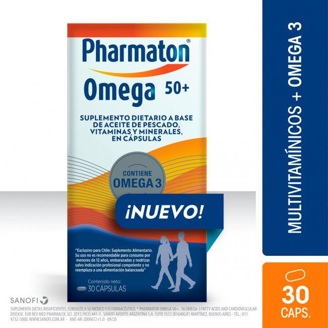 PHARMATON 50+OMEGA3 CAPS X 30