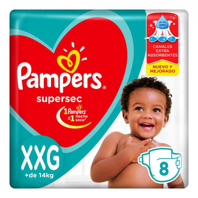 PAMPERS SUPERSEC XXG  X 8UNID