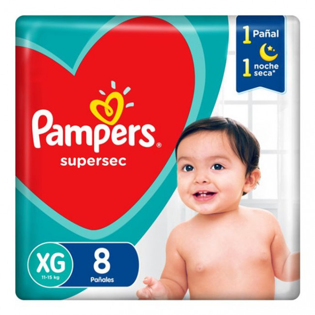 PAMPERS SUPERSEC XG   X 8UNID